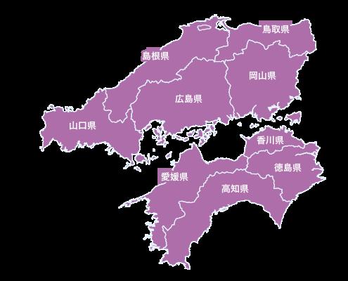 中国・四国地図