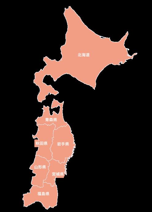 北海道・東北地図